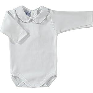 babidu 1188, Body Para Bebe, Blanco (Blanco/Gris), 18 meses
