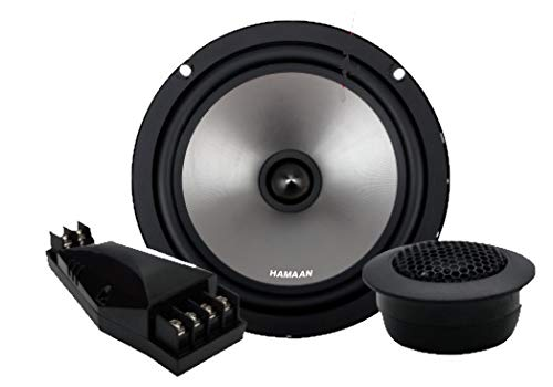 HAMAAN HMCS-750 6.5 Inches 2-Way Hi-Quality Component Set of 2 Car Speakers