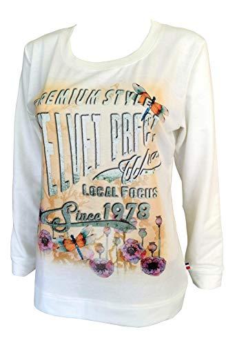 Alex(e) Sweat Shirt Femme Manches Longues Vêtement Top Haut Made in France Grandes Tailles Mode Ete Chic Imprimé Premium (XXL)