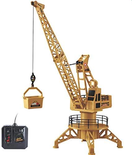 Jouet Grue Télécommande 01:12 Tour de contrôle à Distance de Grue Simulation à Distance de Grue 360 degrés de contrôle Spin Lift Vertical avec Cadeau Modèle lumière Modèle de Jouet