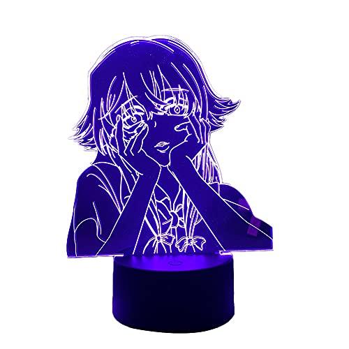 Luminária noturna de LED Future Diary para decoração de quarto de crianças, luz noturna, presente de aniversário, acessório de anime, luminária de mesa Mirai Nikki