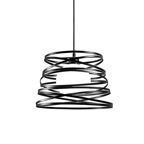 Singola testa semplice moderno salotto ristorante decorato lampadario a bracci lampada da soffitto Nordic bar creativo sala studio appeso sospensione luci fienile villa garage (Nero)