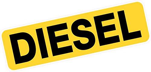 Extra große Diesel Kraftstoff Aufkleber Reminder 160mm x 48mm van Truck Coach Minibus Taxi Vinyl Aufkleber