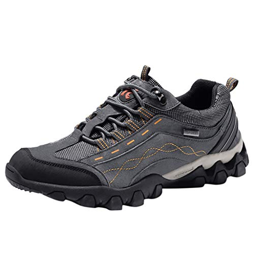 Outdoor hiking shoes waterproof non-slip sneakers Men's low cut tooling boots