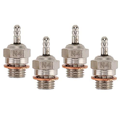 #N/A 4 Stück Stahl 70117 N4 Glühkerze Universal für HSP 1:10 RC Autoteile Gem