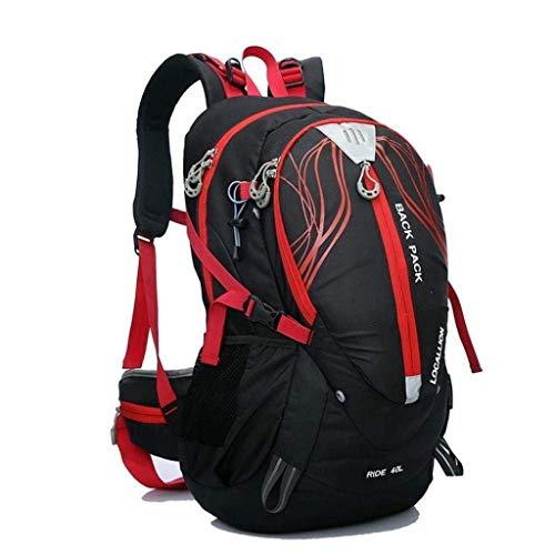 ZXCMNB Rucksack, Outdoor Reiserucksack Superleicht Huckepack Sport Rucksack Bergsteigen Wandern Tasche Camping Klettern Outdoor Tasche 50x30x20cm (Color : Black)