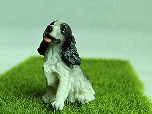 LIAOLEI10 Sculptuur Fee Tuin Miniaturen Decoraties DIY Hars Ambachten Bonsai Terrarium Figurine Mini Tuin Accessoires Leuke Cocker Spaniel Hond