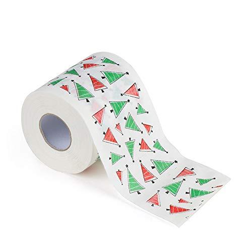 Schimer grappig toiletpapier kerstmotief kerstman en rendier