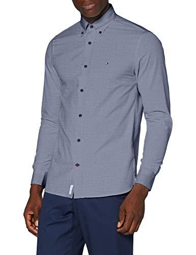 Tommy Hilfiger Herren Peached Soft Poplin Shirt Hemd, Faded Indigo, L