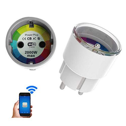 Enchufe inteligente con monitor de alimentación, control inteligente de sus dispositivos y manejo de energía de los costos de Anywhere, funciona con Alexa y Google Assistant