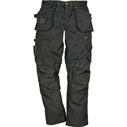 FRISTADS KANSAS Workwear 100545 Pro Hose Zip Off, Schwarz, 48