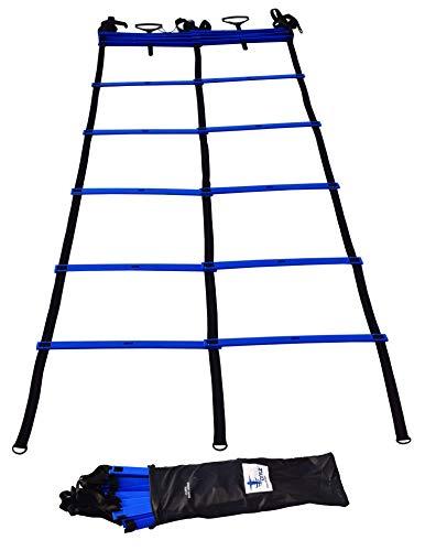 Product Image 2: Cintz Speed Ladder- Blue Dual Rungs Agility Ladder Soccer Training Ladder – Heavy Duty
