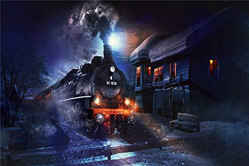 YANCONG Puzles Adulto De 1000 Piezas, Tren Conduciendo por La Noche