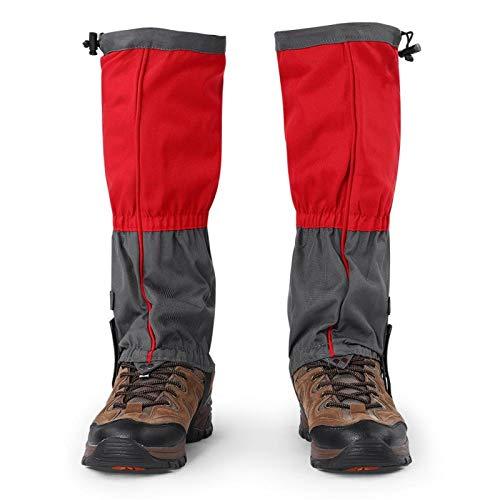 Jenngaoo 1 Paar Outdoor Gamaschen rodeln, Gamaschen Wandern wasserdichte Gamaschen Gaiter für Outdoor-Hosen zum Wandern, Klettern und Schneewandern schneeschutz Schuhe(Rot)
