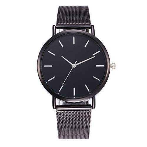COAO Women's Elegant Casual Watches Minimalist Dial No Digital Time Scale with Stainless Steel Mesh Strap Quartz Movement for Business Workout Anniversary Birthday Gifts for Her