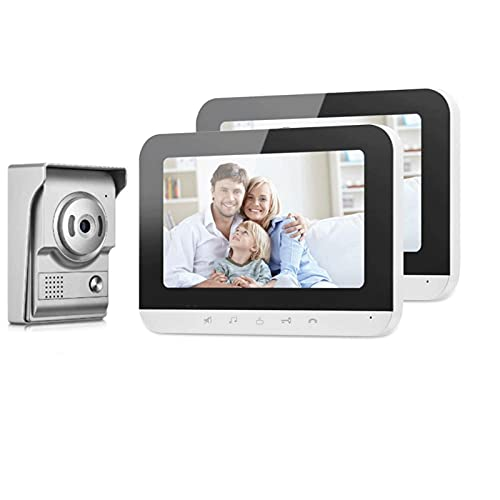 DNAMAZ Portero Anillo WiFi Video Intercom Monitor Soporte de compatibilidad con múltiples Registros de intercomunicaciones Snapshot Smart Wireless Timbell Wireless Door Kits Teléfono automatico