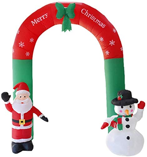 Vacally Christmas Ornaments,8 Foot Tall Christmas Inflatable Decorations,Huge Lighted Santa Claus Arched Door with LED Light,Xmas Inflatables Toy in Yard Garden Outdoor