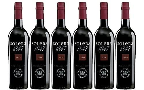 Solera 1847 Cream - Vino D.O. Jerez - 6 botellas de 750 ml - Total: 4500 ml