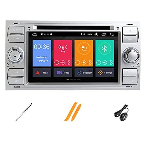 HAZYJT Car Navigation 7 Pulgadas Android 10.0 Estéreo De Automóvil Compatible con F-ORD Soporte GPS Carplay Dsp Bluetooth WiFi Dab