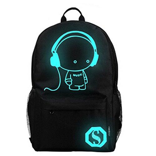 Mode Noctilucent/Voyage scolaire Sac à dos/épaules élèves Sac, Musique Boy