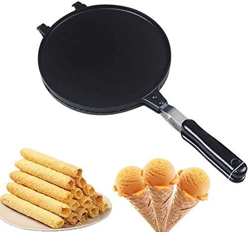 qiuqiu Producent stożków waflowych, do domowego pieczenia bułek do jajek, nieprzywierająca forma do pieczenia z uchwytem, do naleśników