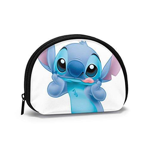 Lilo Stitch Shell Shape Portable Mini Bags Clutch Pouch Travel Waterproof Toiletry Bag Band Zipper For Ladies Organizer Coin Purse Storage Bags