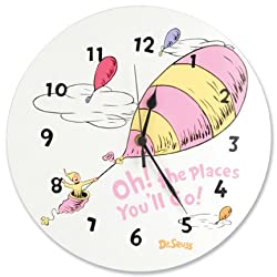 Dr. Seuss Oh, The Places You'll Go! Pink Wall Clock