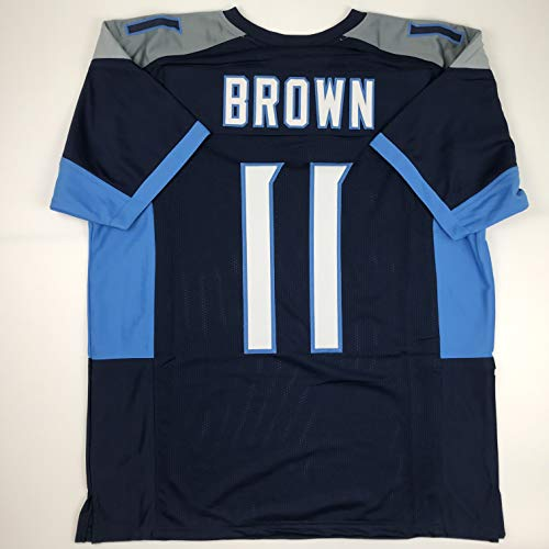 Unsigned AJ A.J. Brown Tennessee Dark Blue Custom Stitched Football Jersey Size XL New No Brands/Logos