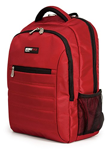 Mobile Edge Smartpack 15.6 Inch Laptop Backpack with Separate Padded Tablet Compartment Crimson...
