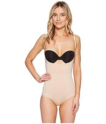 Spanx Women's Oncore Open-Bust Panty Bodysuit Soft Nude Small