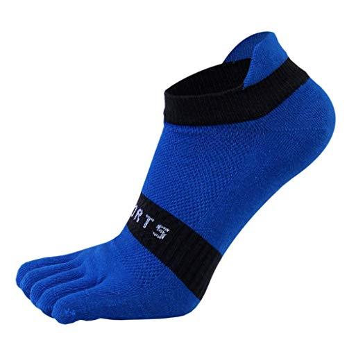Xu Yuan Jia-Shop Calcetines Dedo del pie de los Hombres Calcetines de algodón de 5 Dedos atléticos Wicking Confort escotados Calcetines Calcetines Adulto (Color : D)