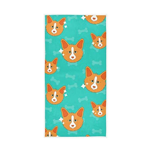 UMIRIKO Toallas para perros de animales, toalla de mano verde hueso toalla de secado rápido, toallas de cara altamente absorbentes para baño 30 x 15 pulgadas 2020694
