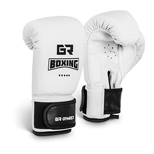 Gymrex GR-BG 4W Boxhandschuhe Kinder Jugend Boxen Handschuhe Boxsport 4 oz weiß