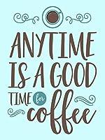 いつでもコーヒー、ブリキのサインヴィンテージ面白い生き物鉄の絵画金属板ノベルティのための良い時間です