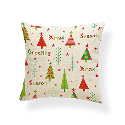 LZHLMCL Cushions Accessories Christmas Pillow Santa Claus Candy Birds Pillow Cover Reindeer Deer Xmas Red Sock Sofa Cushion Cover 3