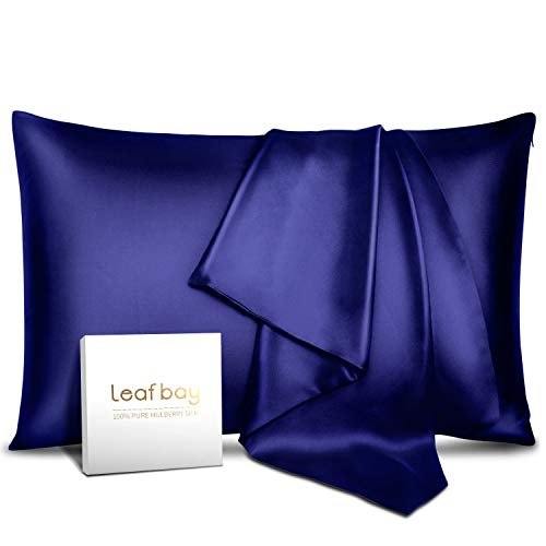 100% Pure Mulberry Silk Pillowcase for Hair & Skin -Allergen Proof Dual Sides 600 Thread Count Silk Bed Pillow Cases with Hidden Zipper,1 Piece Queen Size