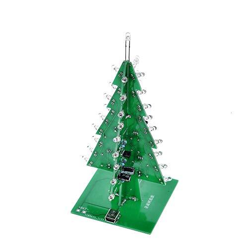 Led Light Bulb Three-Dimensional 3D Christmas Tree Led DIY Kit Red/Green/Yellow Flash Circuit Electronic Fun Suite