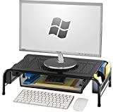 SimpleHouseware Metal Desk Monitor Stand Riser with Organizer...