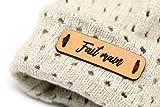 Handmade étiquette en cuir N 'Fait Main | 15 pièces | Exklusive Engraved Genuine Italian Leather Tags