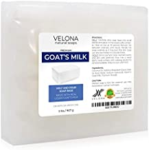 2 LB - GOATS MILK Soap Base by Velona | SLS/SLES free | Melt and Pour | Natural Bars For The Best Result for Soap-making
