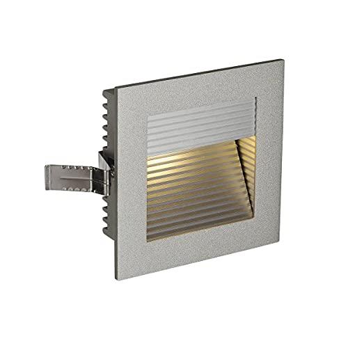 SLV LED Einbauleuchte Frame Curve | Wand- und Deckenleuchte zum Einbau | Eckig, Silber, 3000K Warmweiß | Stilvolle Wandleuchte, Einbau-Strahler LED Treppen-Beleuchtung, Stufen-Licht, Treppenlicht