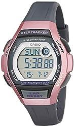 commercial Casio Women's Runner Resin Quartz Running Watch, Black, 19.3 (Model: LWS-2000H-4AVCF) sports watch pedometer
