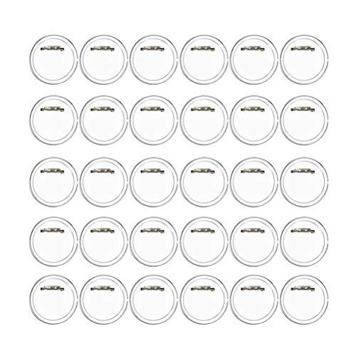 BUYGOO 50 Piezas Chapas plásticas con alfiler Incluido (a presión) hágalo Usted Mismo