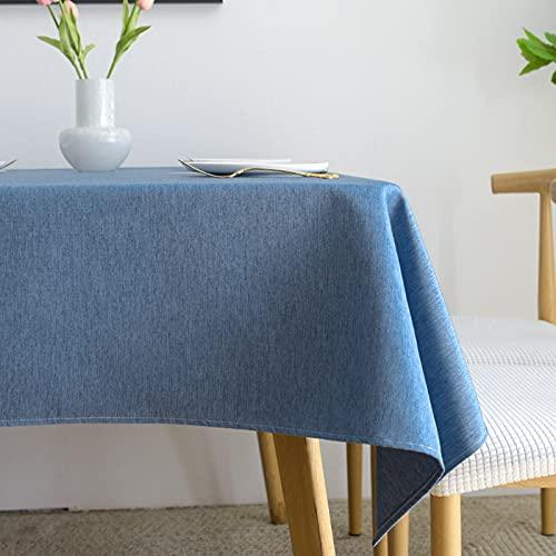 Tablecloths,Mantel Rectangula,Manteles Antimanchas,Mantel Mesa Rectangular Antimanchas,para Cocina, Comedor, Exterior,120x160cm. (Cielo Azul)