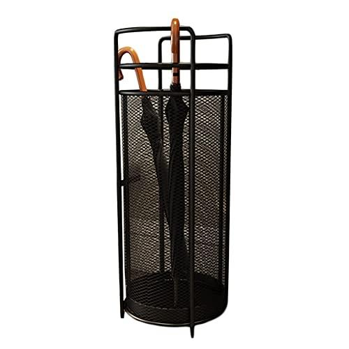 zuyang Soporte De Paraguas De Metal De Bastidor De Paraguas Adecuado para Paraguas De La Oficina Y De La Oficina para La Entrada (Color : Black, Size : 70 * 25cm)