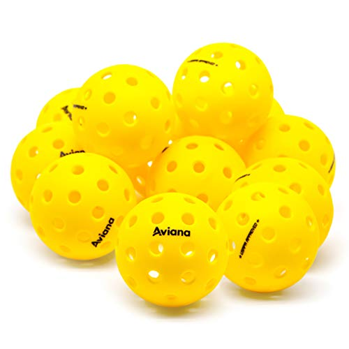 Professional USAPA-Approved Outdoor Pickleball Balls | Yellow, 12 Pack