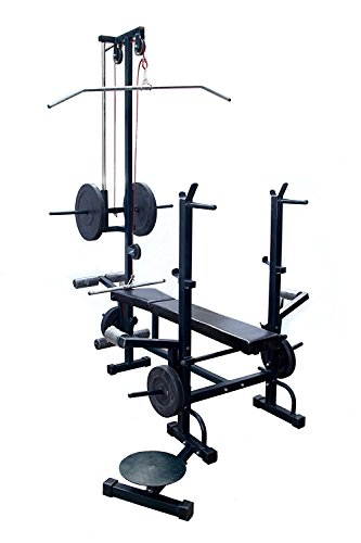 Bodyfit Muscle Gaining Multipurpose 20 in 1 Bench Gym Equipment (Weight Plates not Included in This Pack)