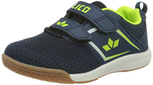 Lico Chess V Jungen Multisport Indoor Schuhe, Marine/ Lemon, 39 EU