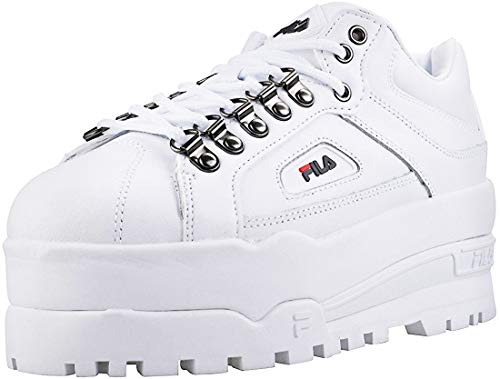FILA Trailblazer Wedge Platform Sneaker In White
