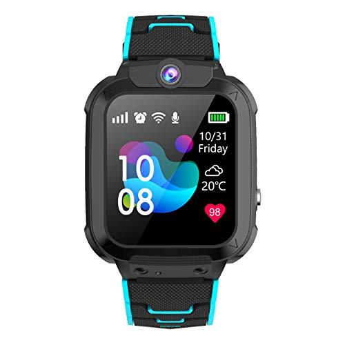 Winnes GPS Reloj Smartwatch para Niños, Impermeable GPS Rastreador Reloj Anti-Perdida de Teléfonos SOS, - Regalo para para Niños Niña 3-12